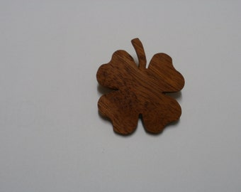 clover brooch wood scroll saw