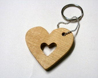 heart  key chain maple scroll saw