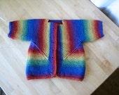 Rainbow striped Baby Surprise Jacket