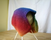 Rainbow striped baby cap