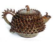 Stoneware Dragon Teapot