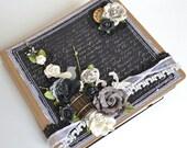 Wedding Album Scrapbook 8x8 Black White Cream Mini Memory Photos Reception