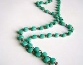 Keep it simple-beaded necklace in seagreen/ turqoise