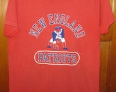 vintage 1970s New England Patriots NFL AFL shirt Champion brand