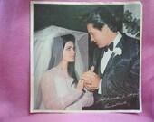ELVIS and Priscilla PRESLEY Bonus Wedding Photo 1967 From Clambake RCA Record