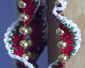Crochet Christmas garland - SPIRAL