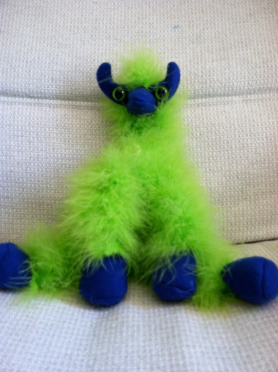 Ivan the Trudgebeast- Fuzzy Finger Puppet from Such Things Puppets