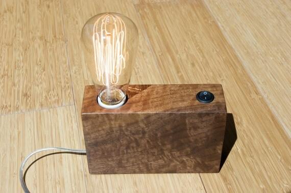 Solid Walnut Desk Lamp