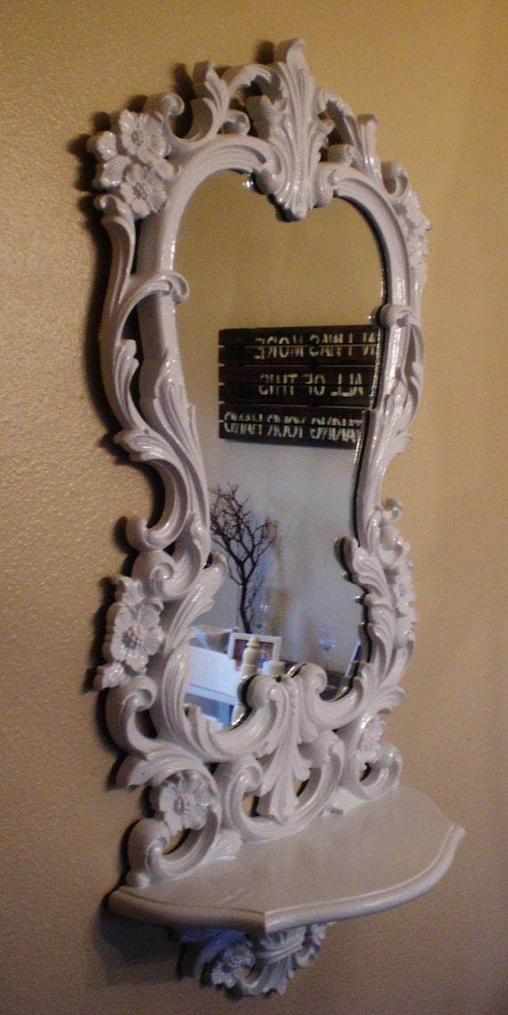 White Ornate Decorative Mirror