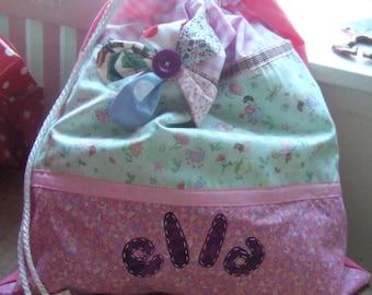 Personalised Drawstring Bag - Patchwork & Applique