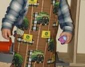 Boy's apron art smock John Deere