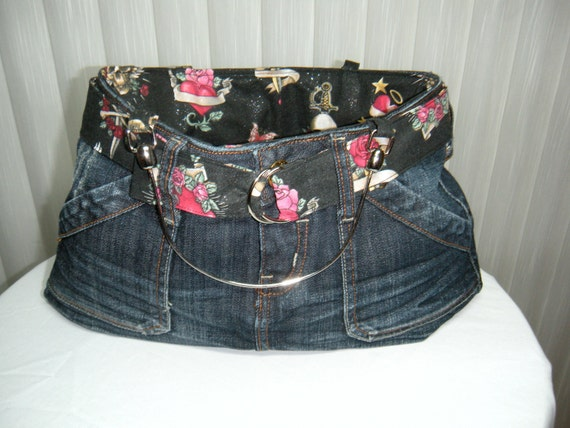 Denim Jean Skirt Purse