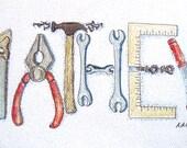 Custom Name Art for Boys-Tools