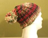 Hand knit hat men or women unisex