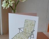 Happy Summer lawn chair Greeting card