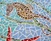 Sea Horse Glass Mosaic Wall Hanging