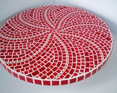 """RESERVED LISTING FOR: Attorney01 - Red Mosaic Lazy Susan """"The Lazy in Red"""""""