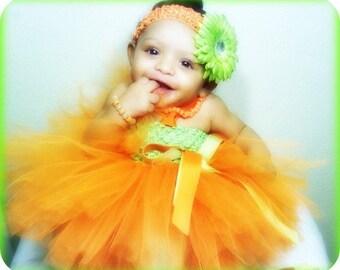 Pumpkin Tutu Dress , Halloween Tutu Dress, Orange Tutu Dress, Pumpkin Costume, Pumpkin Outfit