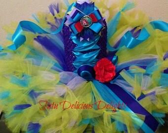 Little Mermaid Ariel Tutu Dress, Petti Tutu Dress, Little Mermaid Birthday Party, Kids Birthday Tutus, Pageant Dress, Kids Photo Props