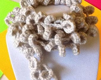 Loopsy Loop Pearl Mist Handmade Crochet Necklace