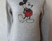 vintage sweatshirt micky from disney small gray