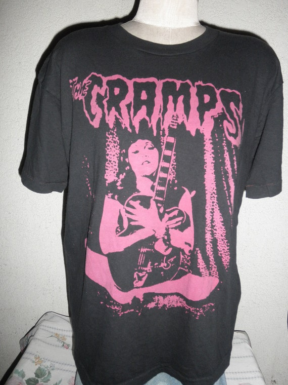 Vintage T Shirt The Cramps American Rock Band Formed 1976