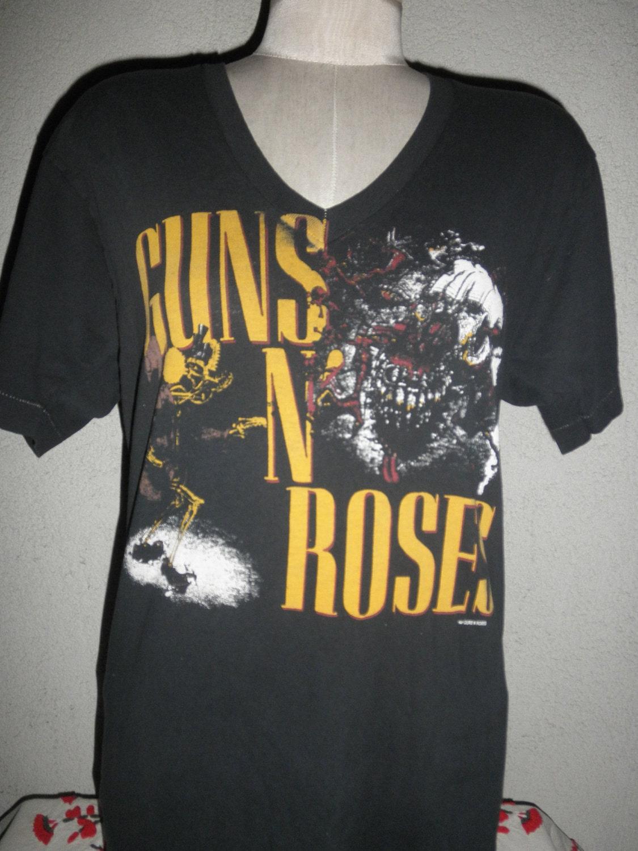 vintage t shirt rock band guns n roses was here. Black Bedroom Furniture Sets. Home Design Ideas
