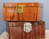 Vintage Portable File Metal Faux Bois Wood Decor Mid Century Organization
