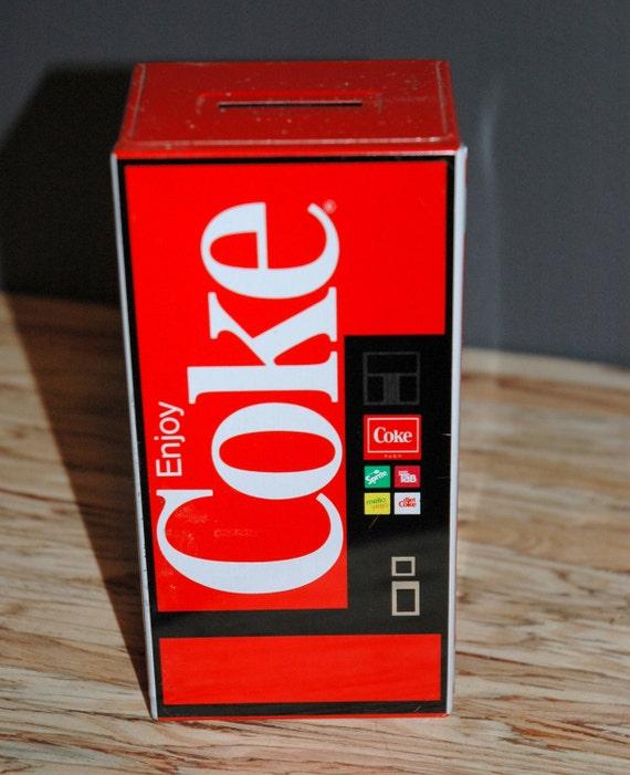 Coke Coin Bank Vintage Soda Machine Savings Spot for Change