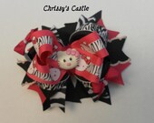 Hello Kitty Zebra Print Hair Bow