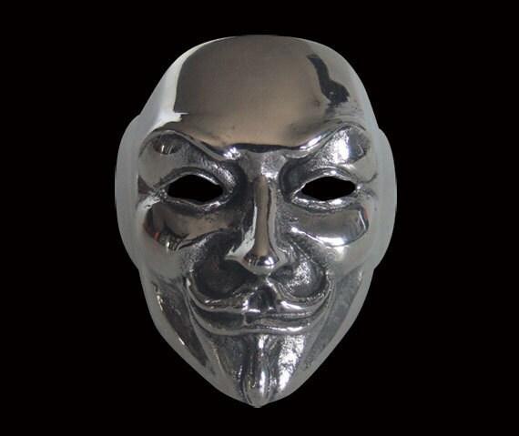 Steele Mask Steel Guy Fawkes v Mask