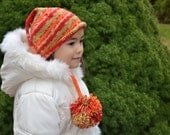 Fun Fall Childrens Long Tail Knitted Hat