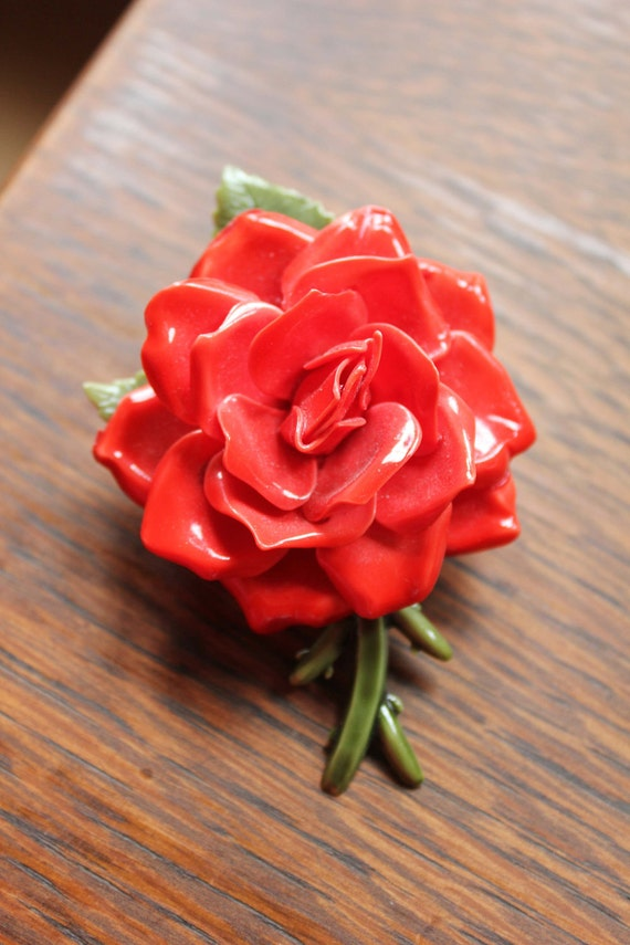Vintage Rose Brooch - DandyDutch