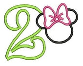 Minnie Mouse Applque design, Minnie Mouse Embroidery, (113) Instant Download