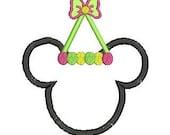 Minnie Mouse Applique Design, Minnie Ears, Minnie Birthday, Applique Design, Minnie Applique (10) Instant Download