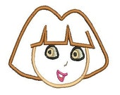 Dora Applique, Dora the Explorer Embroidery Design Embroidery Design (36) Instant Download