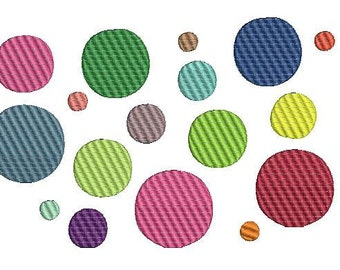 Polka Dot Embroidery Design, Embroidery Patterns, Dots (500) Instant Download