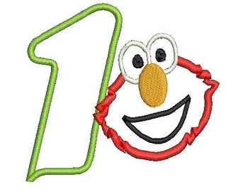 Elmo Applique, Applique Elmo, Elmo Birthday Design, Sesame Street Design, Embroidery Design (47) Instant Download