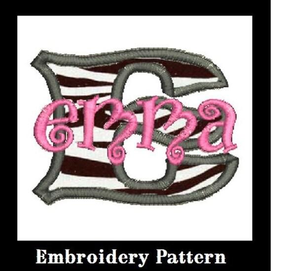 Font Applique Embroidery Design (M14)