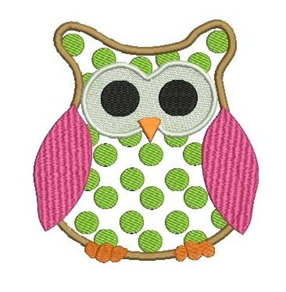 Owl Applique, Animal Applique, Applique Designs, Embroidery Design (K2)