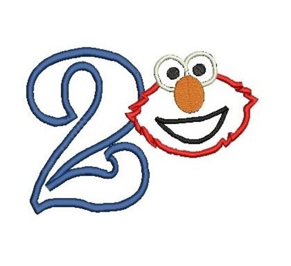 Elmo Applique, Elmo Design, Elmo Embroidery Design, Elmo Birthday Applique (77) Instant Download