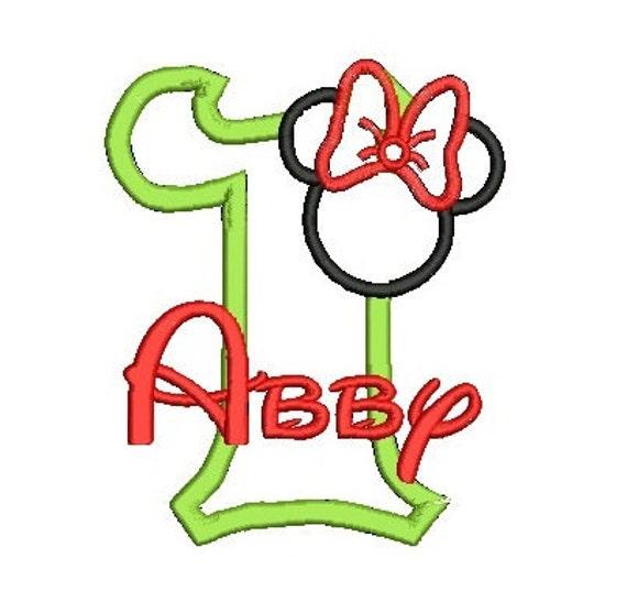 Minnie Mouse Applique, Minnie Ears, Minnie Head, Applique Number, Embroidery Design, Minnie Applique, Minnie Birthday (C55)