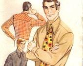 1971 Vintage UNCUT Kwik Sew Men's Shirt & Tie Pattern