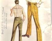 1971 Vintage UNCUT Kwik Sew Men's Slacks Pattern