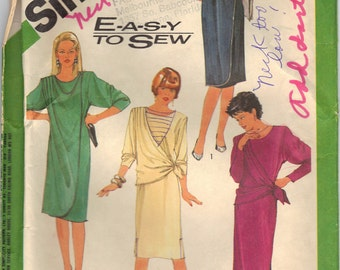 1964 Vintage UNCUT Simplicity Plus Size Dress Pattern