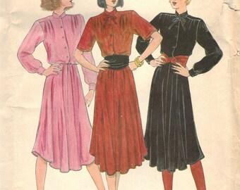 1970s Vintage UNCUT Butterick Plus Size Dress Pattern