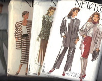 1980s Set of 4 CUT Vintage New Look Plus Size Patterns