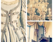 Victorian Renaissance Set of Three Photographs, Romantic, Ethereal, Chandelier, Palace, Castle Interior, Dress, Save 30% - Let Them Eat Cake