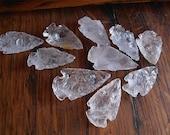 Crystal Quartz Arrowheads 8 Piece Lot