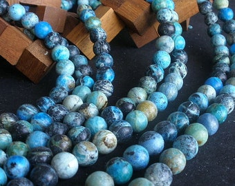 """Mexican Turquoise 12mm Round Beads 15"""" Full Strand  / Liquidation / Close Out Price 1 Strand"""